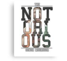 ''The Notorious'' Conor Mcgregor Canvas Print