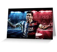 Messi Barca-Argentina Greeting Card