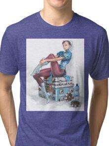Chun-li Tri-blend T-Shirt