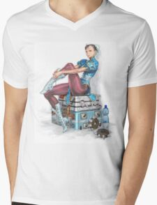 Chun-li Mens V-Neck T-Shirt
