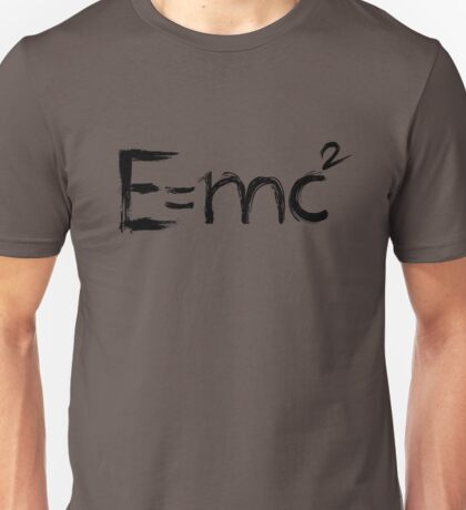 Einstein's Equation. Mass-energy equivalence - Black Edition Unisex T-Shirt