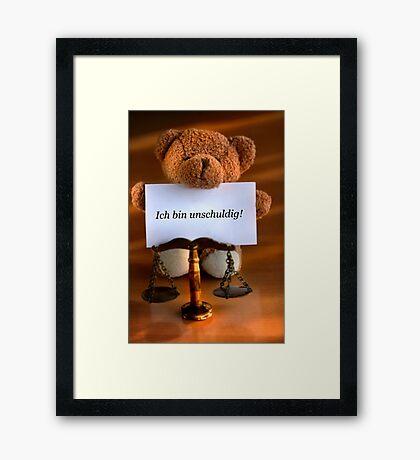 I am Innocent! Framed Print