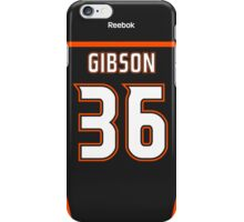 Anaheim Ducks John Gibson Jersey Back Phone Case iPhone Case/Skin
