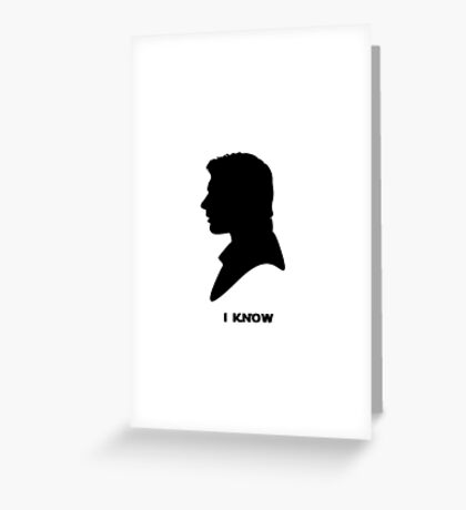 sw - han solo Greeting Card