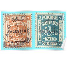 Egyptian Expeditionary Force in Palestine (EEF) stamps from 1922 Poster