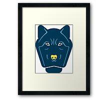 creative wolf animal design Framed Print