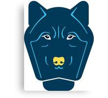 creative wolf animal design Canvas Print