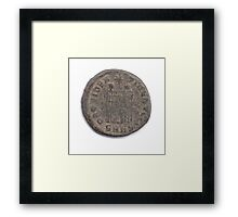 Ancient Roman Constantine coin from 84 CE Framed Print