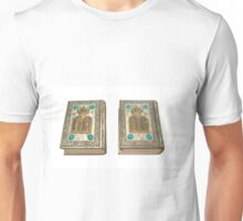 Jewish Sidur (prayer book) for the high holidays of Rosh Hashana and Yom Kippour On white Background Unisex T-Shirt