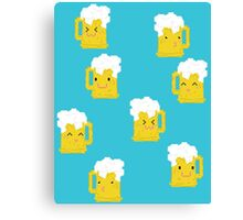 Kawaii Beer Canvas Print