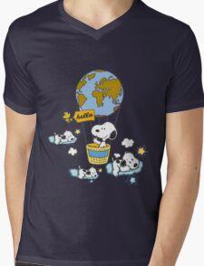 snoopy Mens V-Neck T-Shirt