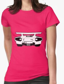 lamborghini contach 5000 backend Womens Fitted T-Shirt