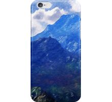 Mountains Into A Blue Sky iPhone Case/Skin