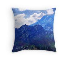 Mountains Into A Blue Sky Throw Pillow