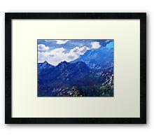 Mountains Into A Blue Sky Framed Print