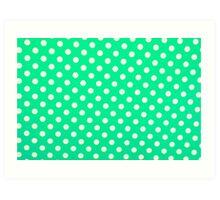 Foamiran polka dot texture Art Print