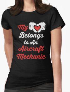 My Heart Belongs To An Aircraft Mechanic T-Shirt