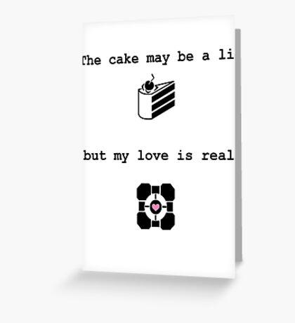 Portal Love (2) Greeting Card