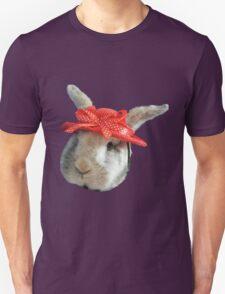Rabbit in red bonnet Unisex T-Shirt