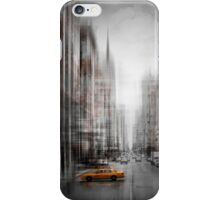 City-Art NYC 5th Avenue Yellow Cab iPhone Case/Skin