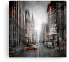 City-Art NYC 5th Avenue Yellow Cab Canvas Print