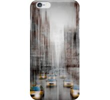 City-Art NYC 5th Avenue Yellow Cabs iPhone Case/Skin