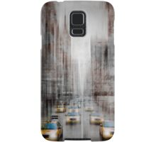 City-Art NYC 5th Avenue Yellow Cabs Samsung Galaxy Case/Skin