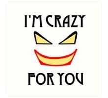 Joker love Art Print