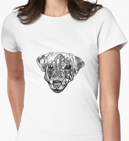 Nure- the dog Womens Fitted T-Shirt