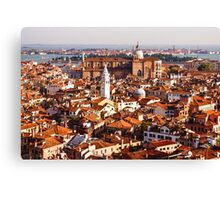 Hot, Hazy and Wonderful - the Red Roofs of Venice, Italy Canvas Print