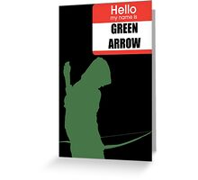 My name is arrow Greeting Card