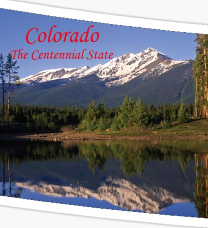 Colorado Map with State Nickname:  The Centennial State Sticker