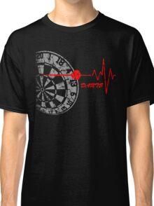 DARTS, Dart Board, heartbeat Classic T-Shirt