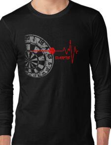 DARTS, Dart Board, heartbeat Long Sleeve T-Shirt