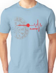 DARTS, Dart Board, heartbeat Unisex T-Shirt