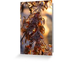 Oak Leaves Jewelry Greeting Card