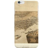 Antique Map of Green Bay and Forth Howard Wisconsin, circa  iPhone Case/Skin