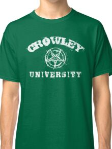 CROWLEY UNIVERSITY - white letters Classic T-Shirt