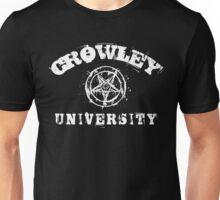 CROWLEY UNIVERSITY - white letters Unisex T-Shirt