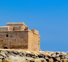 Paphos Castle by Sea Sticker