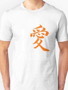 """I love Anime Shirt (Symbol mean """"Love"""") T-Shirt"""