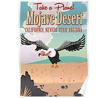 Mojave Desert cartoon vacation poste Poster