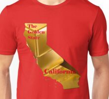 California Map with State Nickname:  The Golden State Unisex T-Shirt