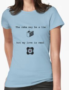 Portal Love (2) Womens Fitted T-Shirt