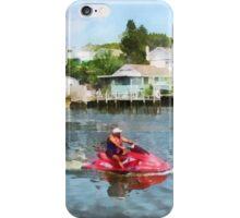 Sports - Man on Red Jet Ski iPhone Case/Skin