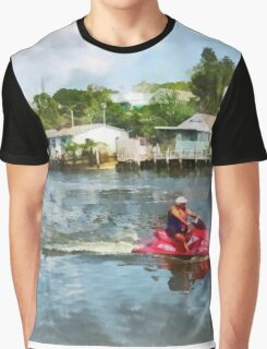 Sports - Man on Red Jet Ski Graphic T-Shirt