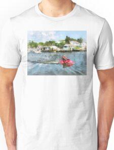 Sports - Man on Red Jet Ski Unisex T-Shirt
