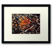 Art and Science - Mineral Photography Framed Print