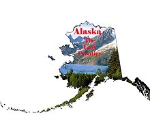 Alaska Map with State Nickname:  The Last Frontier by Havocgirl