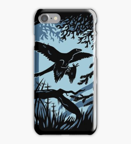 Frosty Microraptor iPhone Case/Skin